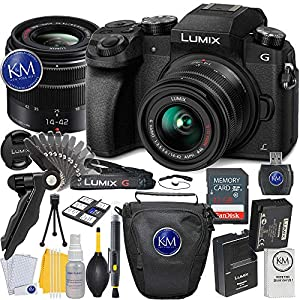 Panasonic Lumix DMC-G7 Mirrorless Camera with 14-42mm Lens + Essential Photo Bundle