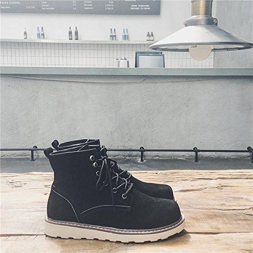 HL-PYL - Stiefel Schuhe, Stiefel, Stiefel, Stiefel, Stiefel, Stiefel, Stiefel, Stiefel und Stiefel, männliche Stiefel, Koreanische Version Arbeitsstiefel, 39, Schwarz 9a99b6