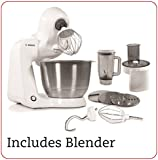 Bosch Styline Stand Mixer with Continuous Shredder and Bosch Blender Bundle of 2 Items