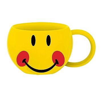 Smiley augen zu rote wangen