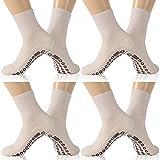 KitNSox Circulation Socks for Diabetic, Women Men Seamless Comfort Ankle Edema Socks,Physicians Approved Socks,Anti Slip Cushion Hospital Socks,Loose Top Socks 4 Pairs