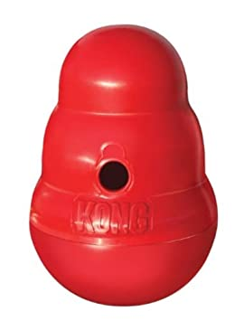 Miniatura Kong Wobbler Treat dispensador para perros grandes