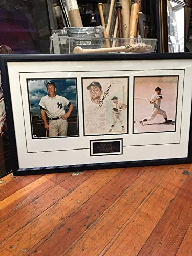Mickey Mantle Autographed Signed Photo Framed Great 1956 SeasonJSA Authentication - Mickey Mantle Autographed Photo