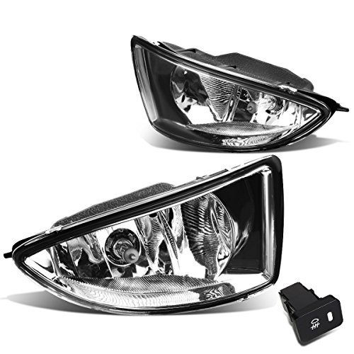 Honda Civic 2/4-Door EM2/ES1/ES2 Pair of Bumper Driving Fog Lights + Wiring Kit + Switch (Clear (04 Fog Light Kit)