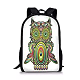 Best Legend Laptop Backpacks - Fashbag Unisex Outdoor Backpack Owls Home Decor,Ornate Colorful Review