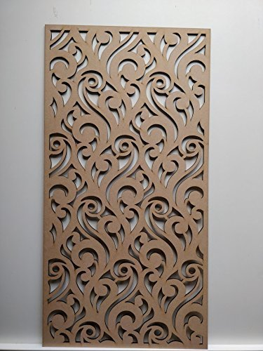 LaserKris radiatore a parete decorativo screening-grille- pannello MDF perforato (4 x 2)