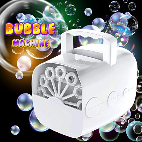Kiddosland Bubble Machine for Kids Adults New Type Automatic Bubble Blower with high Out Put 1500+ Bubbles Portable Bubbles Maker for Wedding Party Outdoor Fun Best Gift for Festivals