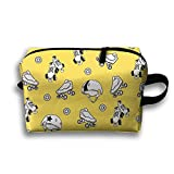 With Wristlet Cosmetic Bags Roller-skating Shoes And Hats Brush Pouch Portable Makeup Bag Zipper Wallet Hangbag Carry Case