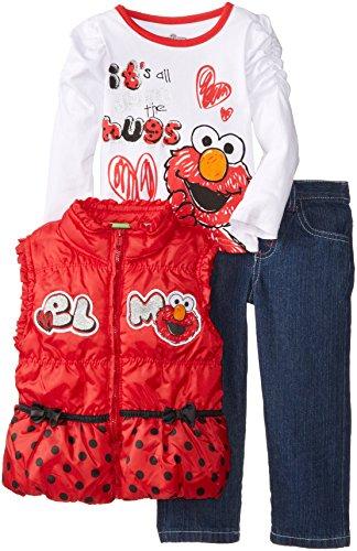 Sesame Girls Piece Heart Nylon