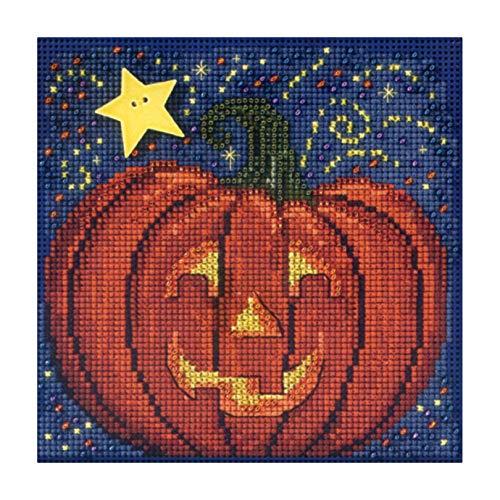 Midnight Pumpkin - Beaded Cross Stitch Kit MH143206 - Buttons & Beads 2013 Autumn ()