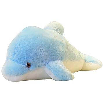 45cm 7 colores cambiantes LED nocturna Peluche luz delfín Juguete de la historieta de los cabritos
