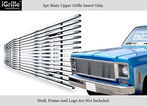 APS Fits 73-80 Chevy C/K Pickup/Suburban/Blazer Stainless Steel T304 Billet Grille Grill #N19-S80058C ()