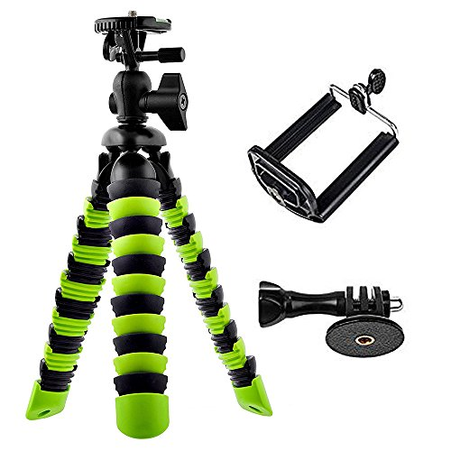 Anmani Flexible Tripod With Iphone And Smartphone Holder   A Light Camera Stand For Dslr  Slr   Free Gopro Mount