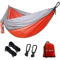 CS NOAH Single Camping Hammock, Portable Nylon Parachute...
