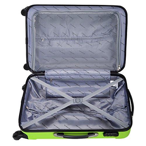 Goplus 3 Pcs Luggage Set Hardside Travel Rolling Suitcase ABS Globalway (Green) by Goplus (Image #4)