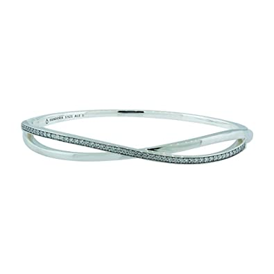 Pandora Women Silver Bangle - 590533CZ-1 7azRiXspop