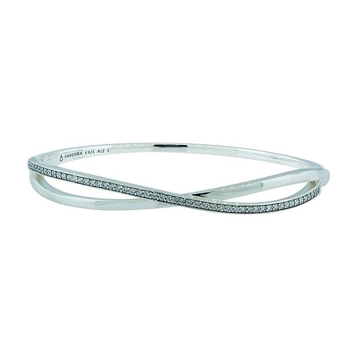 7e8072c53 Amazon.com: Pandora Women's Entwined Bangle - 590533CZ-2: Jewelry