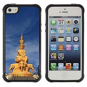 "Hypernova Defender Series TPU protection Cas Case Coque pour Apple iPhone SE / iPhone 5 / iPhone 5S [Arquitectura tailandesa Estatua de Buda""]"