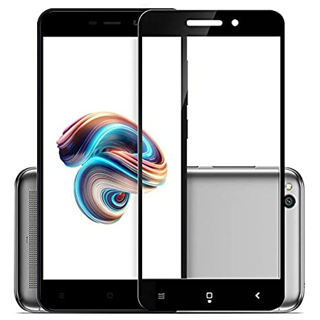 Knotyy Edge to Edge Curved Tempered Glass for Mi Redmi 5A  Black  Screen guards