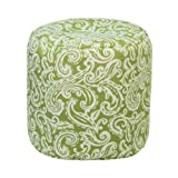 Gold Medal Outdoor/Indoor Weather Resistant Ottoman, Colima Verde