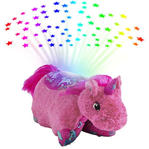 Pillow Pets Sleeptime Lites Colorful Pink Unicorn Stuffed Animal Plush Night Light