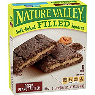 Nature Valley Soft-Baked Oatmeal Squares Cocoa Peanut Butter 6 ct, 7.1 oz