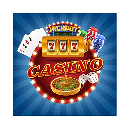 Baocicco 6x6ft Casino Backdrop Poker Cards Dice Turntable Chip Jackpot Photography Background Wallpaper Decor Birthday Party Theme Party Travel Holiday Children Adults Portrait Studio Props]()