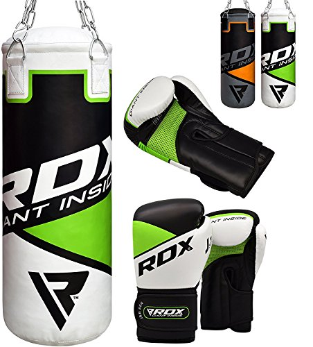 RDX Kids Punching Bag Filled Set Junior Kick Boxing 2FT Heavy MMA Training Youth Gloves Punching Mitts Muay Thai Martial Arts