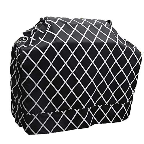 Great Bay Home Grill Cover Heavy-Duty, Waterproof Premium BBQ Gas Grill Cover for Medium Grills of All Brands. (Black)