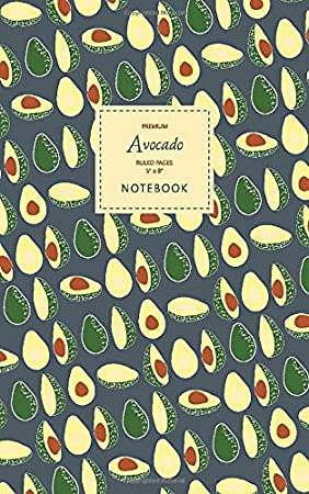 Purple White 5x8 Ruled Pages Premium Taccuino Avocado Notebook