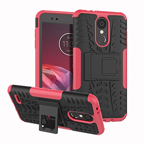LG Aristo 2 Case,LG Tribute Dynasty/Rebel 3 LTE / X210 / LG LV3 2018 Case Heavy Duty Dual Layer Durable Armor Protective Phone Cover Cases with Kickstand for LG Aristo 2 / LG K8 2018,Hot Pink