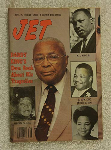 Martin Luther King Senior - Daddy King's Own Book about His Tragedies - Jet Magazine - September 25, 1980