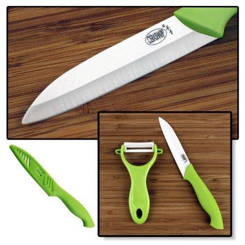 "CERASHARP 4"" Ceramic Paring Knife & Peeler Set - Superior"