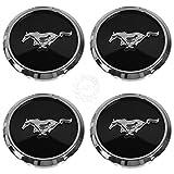 wheel center cap mustang - 4pcs. 2013-2014 Ford DR3Z-1130-A Wheel Center Caps Black Chrome Kit SET