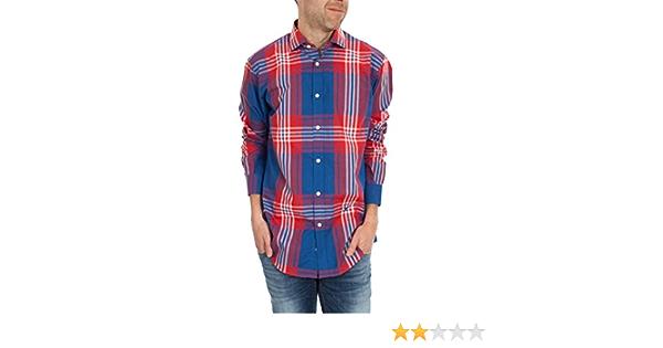 El Ganso 1050s160028 Camisa, Azul/Rojo, 38 para Hombre ...