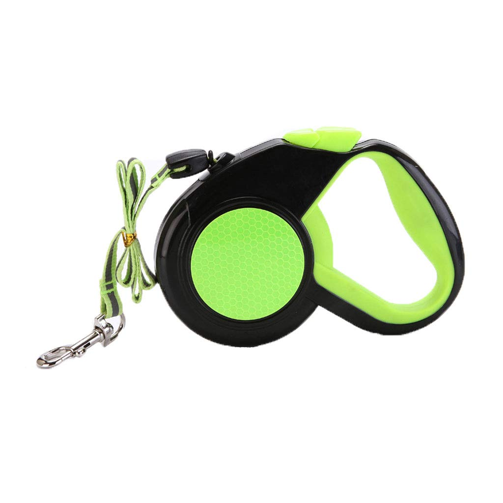 GREEN 5m GREEN 5m Retractable Lead for Small Dog Cat Reflective Pet Leash Walking Animals Lead. (color   Green, Size   5m)