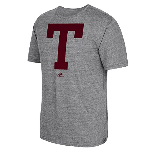 - adidas NCAA Texas A&M Aggies #1 Vintage Vault Tri-Blend Short Sleeve Tee, 2X-Large, Dark Gray Heather
