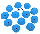 12 Large Double Incut Roof Jugs | Climbing Holds | Blue