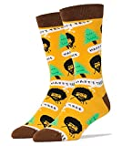Oooh Yeah Men's Luxury Combed Cotton Crew Socks - Bob Ross Happy Tree