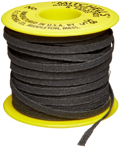 Mitchell Abrasives 58-S Flat Abrasive Tape, Silicon Carbide 150 Grit 3/16'' Wide x 50 Feet by Mitchell Abrasives