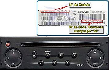 RENAULT CLIO II & MEGANE II & SCENIC II CD PLAYER RADIO: Amazon co