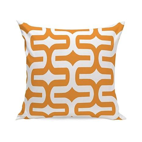 WDDGPZBZ Almohada cojín Naranja Naranja Geometría (Incluido ...