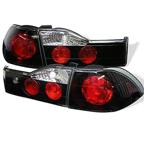 ACANII - For Black 2001-2002 Honda Accord 4-Door Sedan Tail Lights Brake Lamps Taillights Taillamps Left+Right Assembly