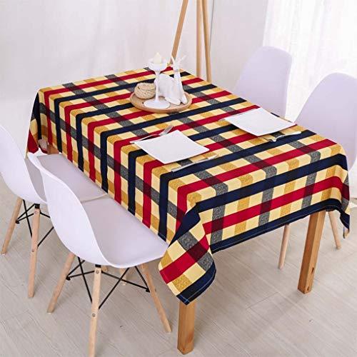B 140X140cm Zhuobu Nappe de restaurant occidental Nappe de lin en coton à voiturereaux Nappe rectangulaire pour hôtel en nappe (Couleur   B, taille   140X140cm)