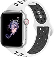BMBEAR Sport Bands Compatible with Apple Watch 38mm 40mm 42mm 44mm Soft Silicone Strap Replacement iWatch Band for Apple...