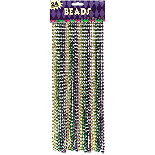 Metallic Bead Party Necklace, 30
