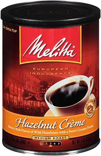 Melitta Coffee, Hazelnut Creme Ground, Medium Roast, Flavored, 11-Ounce ()