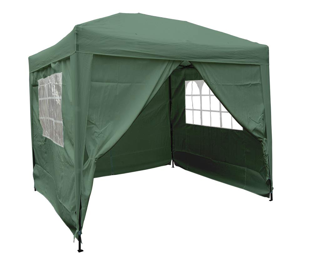 Airwave 2.5x2.5m Waterproof Pop Up Gazebo - Stunning Outdoor Marquee Tent with 2 Windbars, 4 Leg Weight Bags & Carry Bag (Green) Expressco Direct