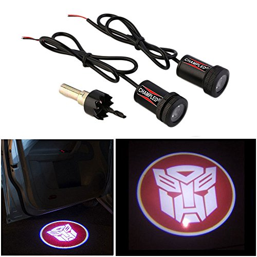 CHAMPLED For TRANSFORMERS-AUTOBOT Laser Projector Logo Illuminated Emblem Step courtesy Light Lighting symbol sign Badge LED Glow Motorcycle Performance Tuning - Ferrari Made Custom