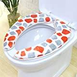 LanDream Toilet Cushion Toilet Cushion Plush Warm in Winter (Color : E)